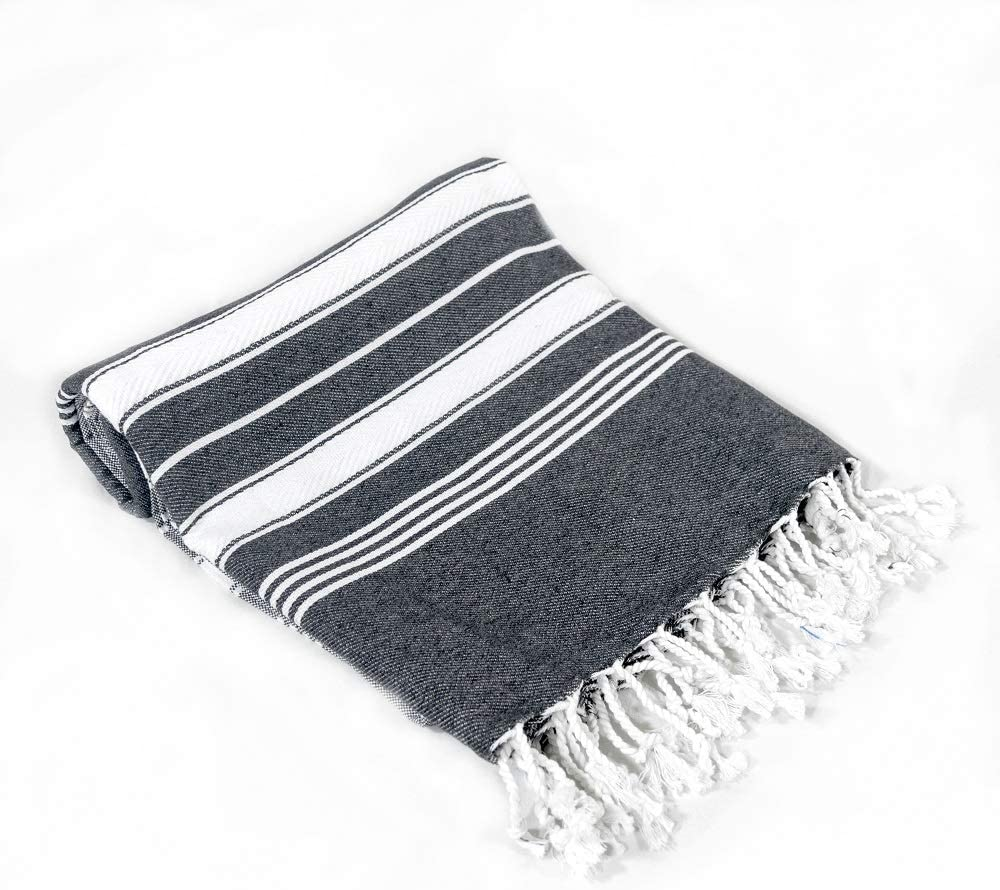 Beach Towel Peshtemal Black Color
