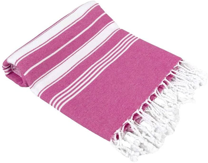 Beach Towel Peshtemal Pink Color
