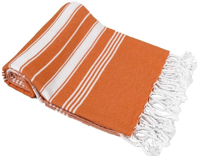Beach Towel Peshtemal Orange Color
