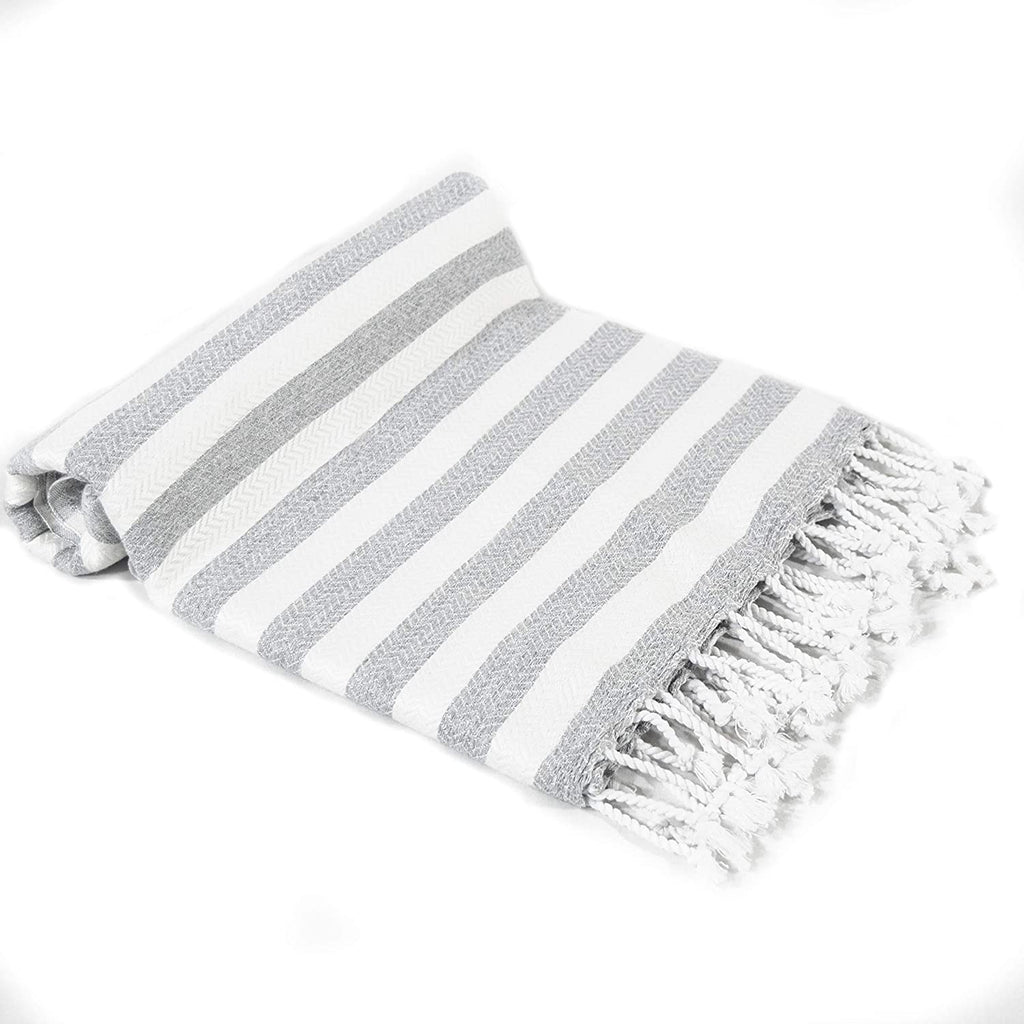 Beach Towel Peshtemal Gray Color Towel Hammam Spa
