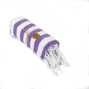 Beach Towel Peshtemal Purple Color Towel Hammam Spa Bath Towel