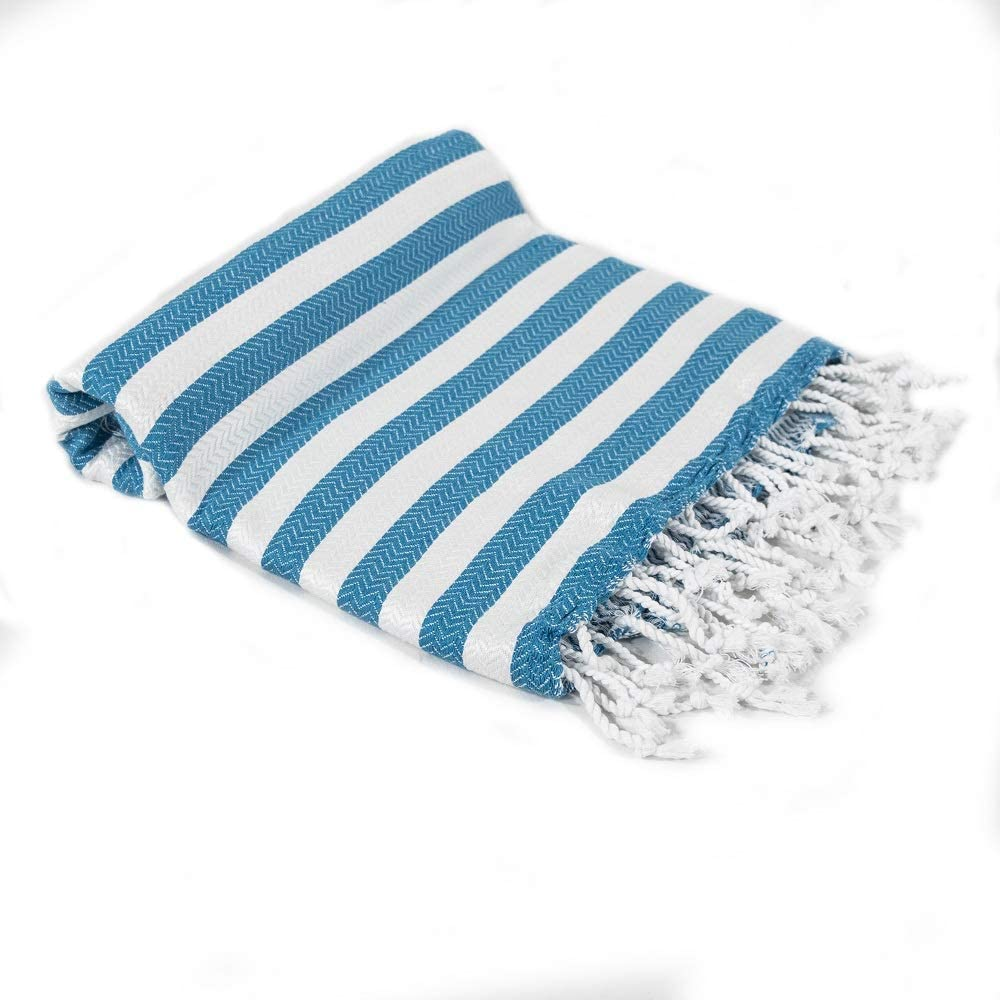 Beach Towel Peshtemal Blue Color Towel Hammam Spa Bath Towel