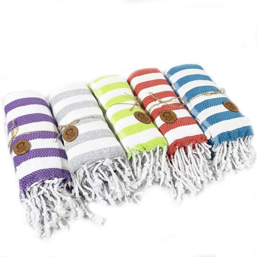 Beach Towel Peshtemal Red Color Towel Hammam Spa Bath Towel