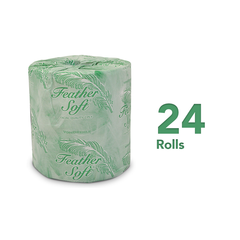Feather Soft® 2-Ply Standard Toilet Paper, 12 Mega Rolls, Bath Tissue