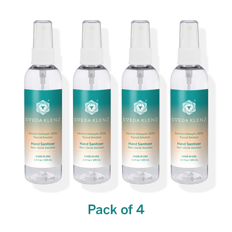 Hand Sanitizer – Scent-Free, 80% Alcohol Meets New WHO Standards - Pack of 4 and more