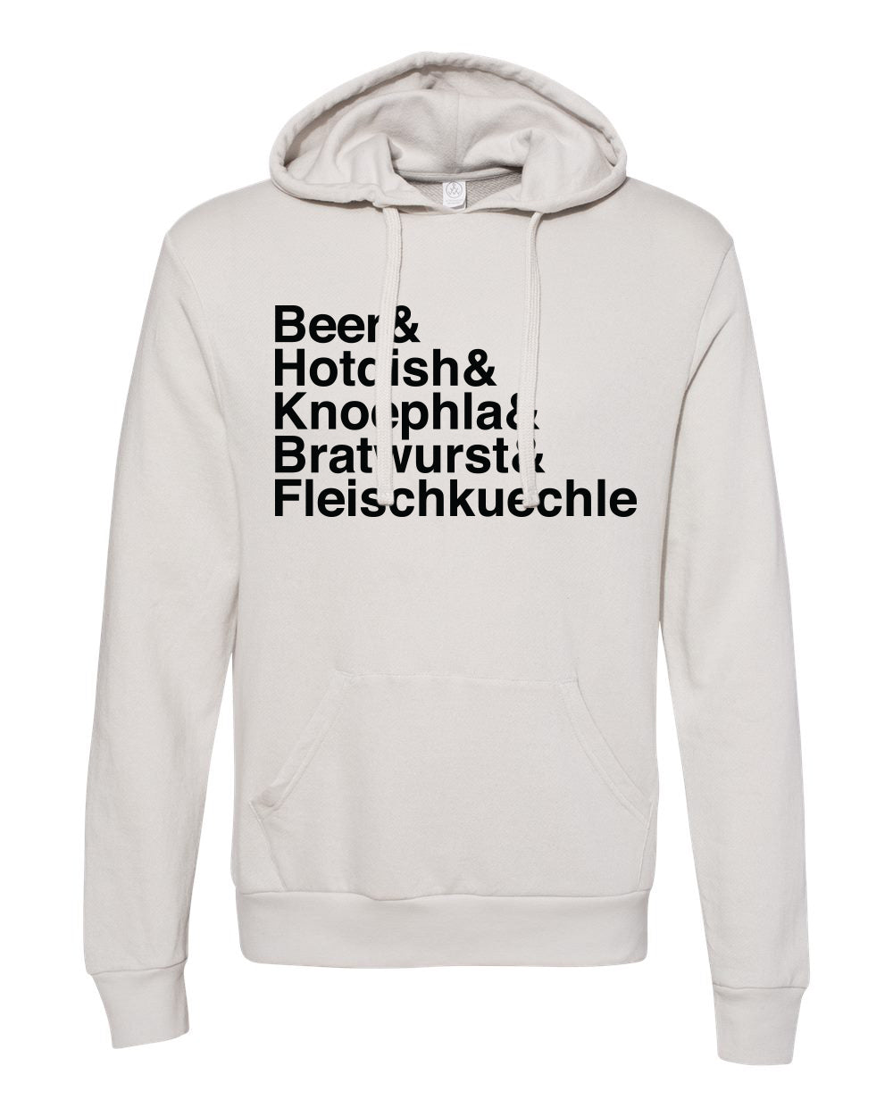 Beer & French Terry Hoodie - Light Grey