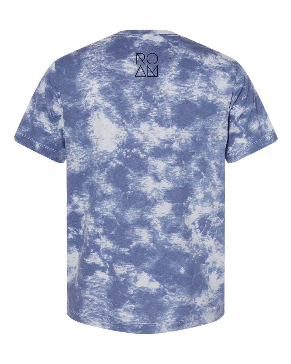 Born to ROAM Stacked Tie Dye Tee - <br> Blue
