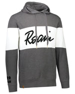 Calli Roam Ivy League Hoodie - <br> Carbon Heather/White