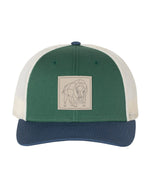 Bison Patch Snapback - Spruce/Birch/Light Navy - Front