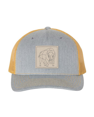Bison Patch Snapback - <br> Heather Grey/Amber Gold