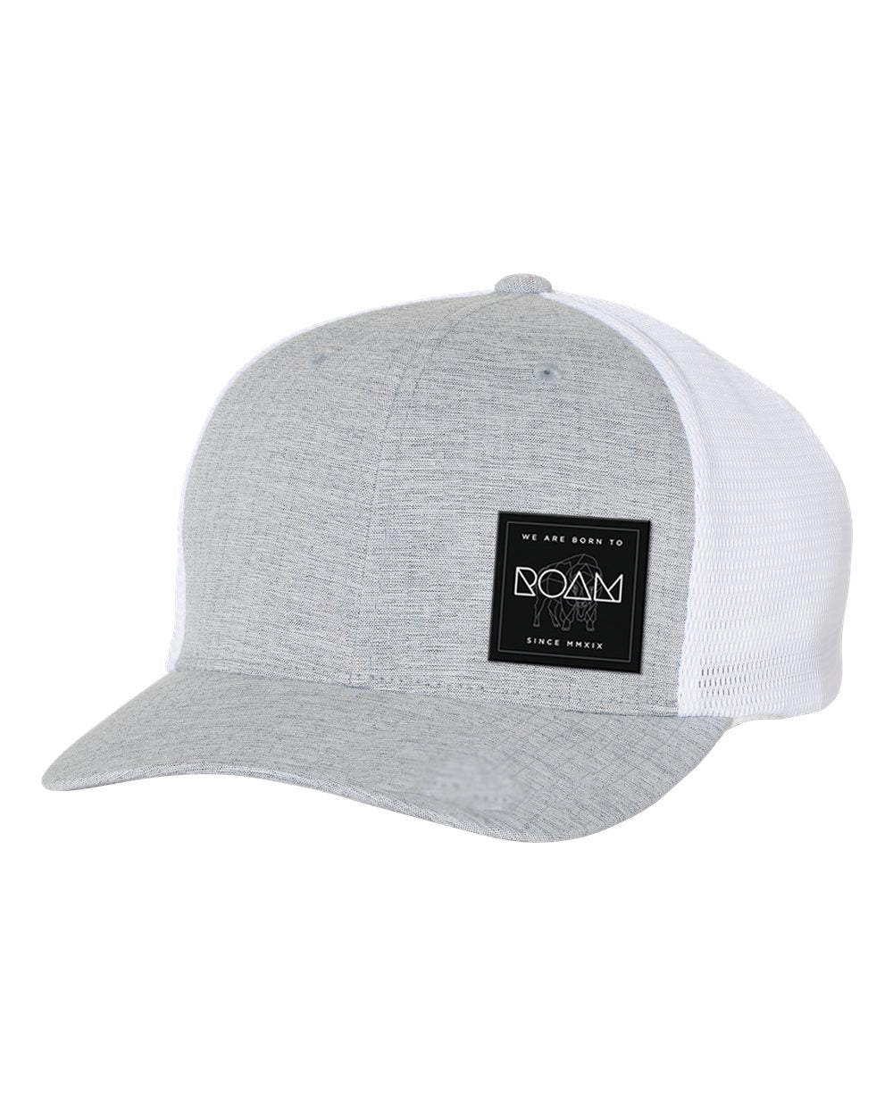 Mosaic Overlay Patch Flexfit Snapback - Silver/White - Front