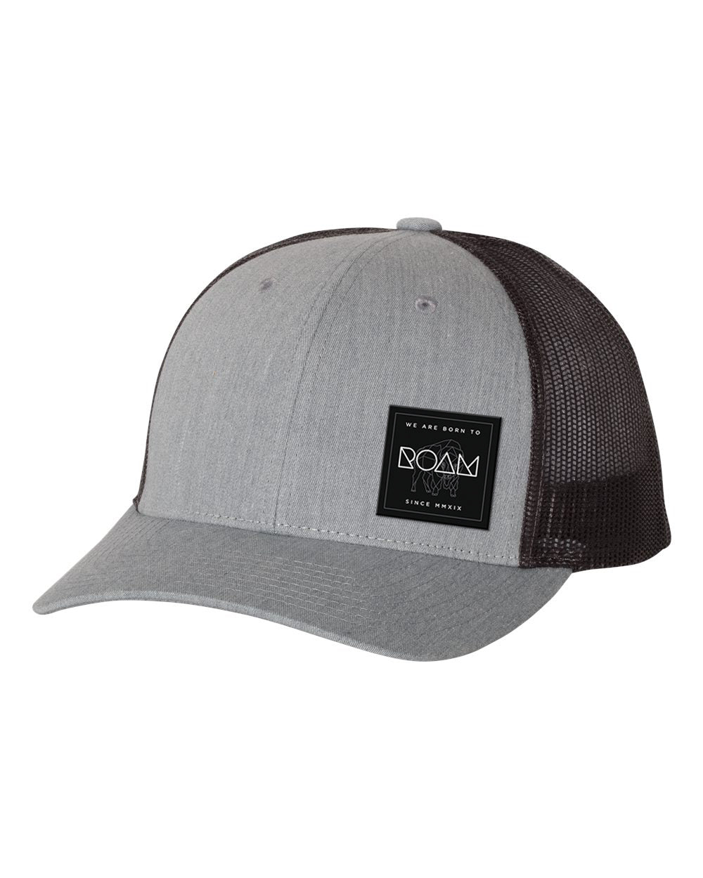Mosaic Overlay Patch Snapback - Heather Grey/Dark Charcoal - Front