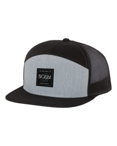 Mosaic Overlay Patch 7 Panel Snapback - Heather Grey/Black - Side