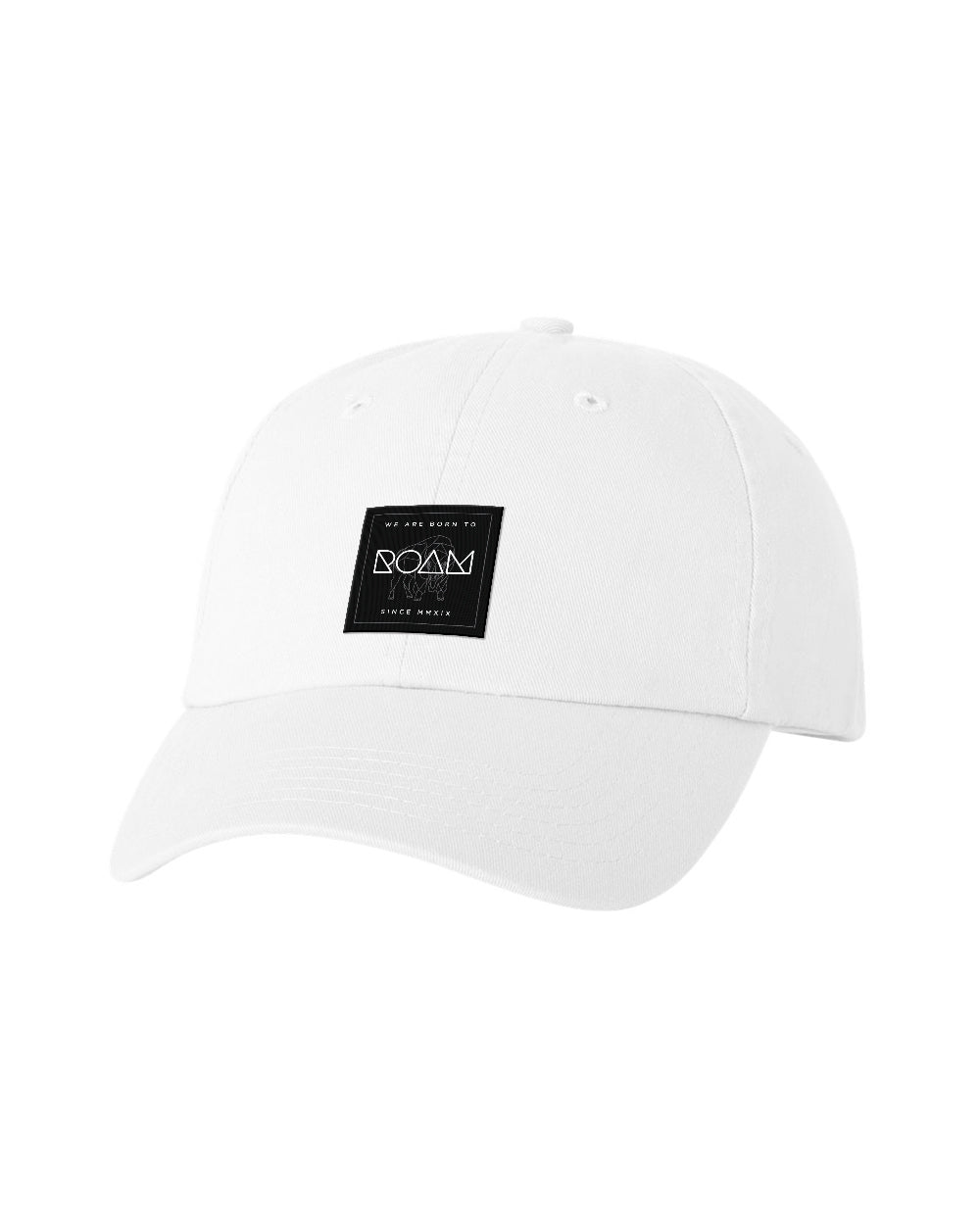 Mosaic Overlay Patch Dad Cap - White - Front