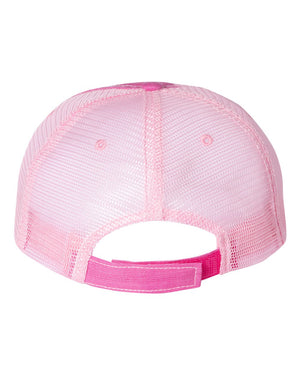 Bison Patch Unstructured Cap - Fuschia/Pink - Back