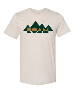 Copy of Mirrored Mountain Tee - Heather Dust - Front