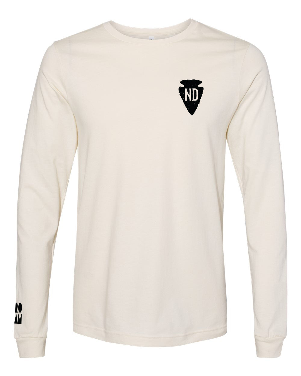ND Arrowhead Long Sleeve Tee - Natural - Front