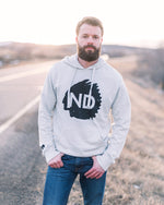 ND Highway French Terry Hoodie - Light Grey - Model