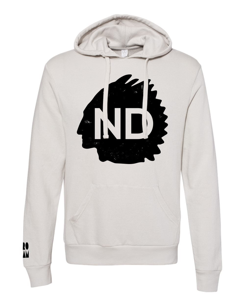 ND Highway French Terry Hoodie - Light Grey - Front
