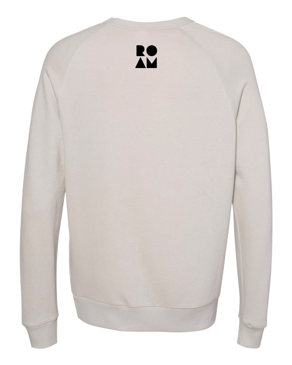 ND Rectangle French Terry Pullover - Light Grey - Back