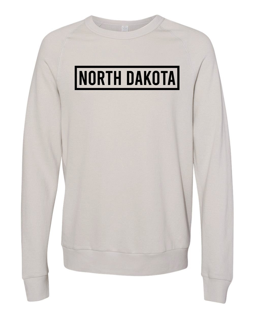 ND Rectangle French Terry Pullover - Light Grey - Front