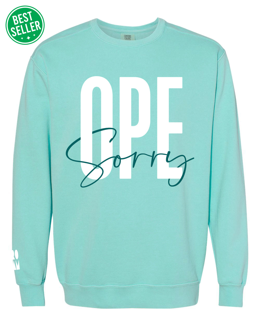 Ope Sorry Crew - Chalky Mint - Front - BS