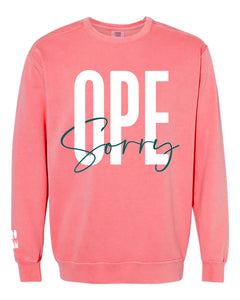Ope Sorry Crew - Watermelon - Front