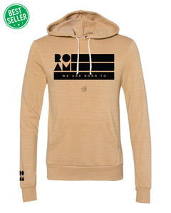 Roam Flag Eco-Fleece Hoodie - Camel - BS