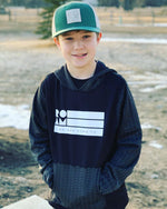 Youth Roam Flag Range Hoodie - Black/White - Model