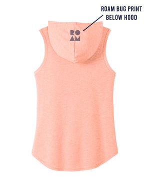Calli Roam Sleeveless Hoodie - Peach - Back