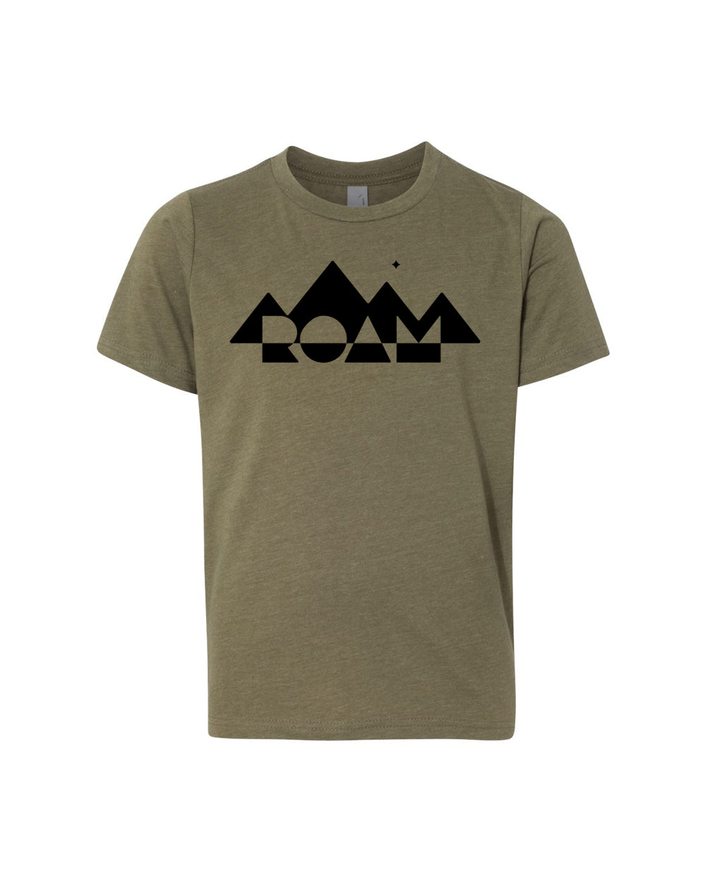 Youth Mirrored Mountain Tee - <br> Military Green