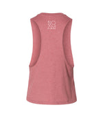Mosaic Bison Racerback Crop - Heather Mauve - Back