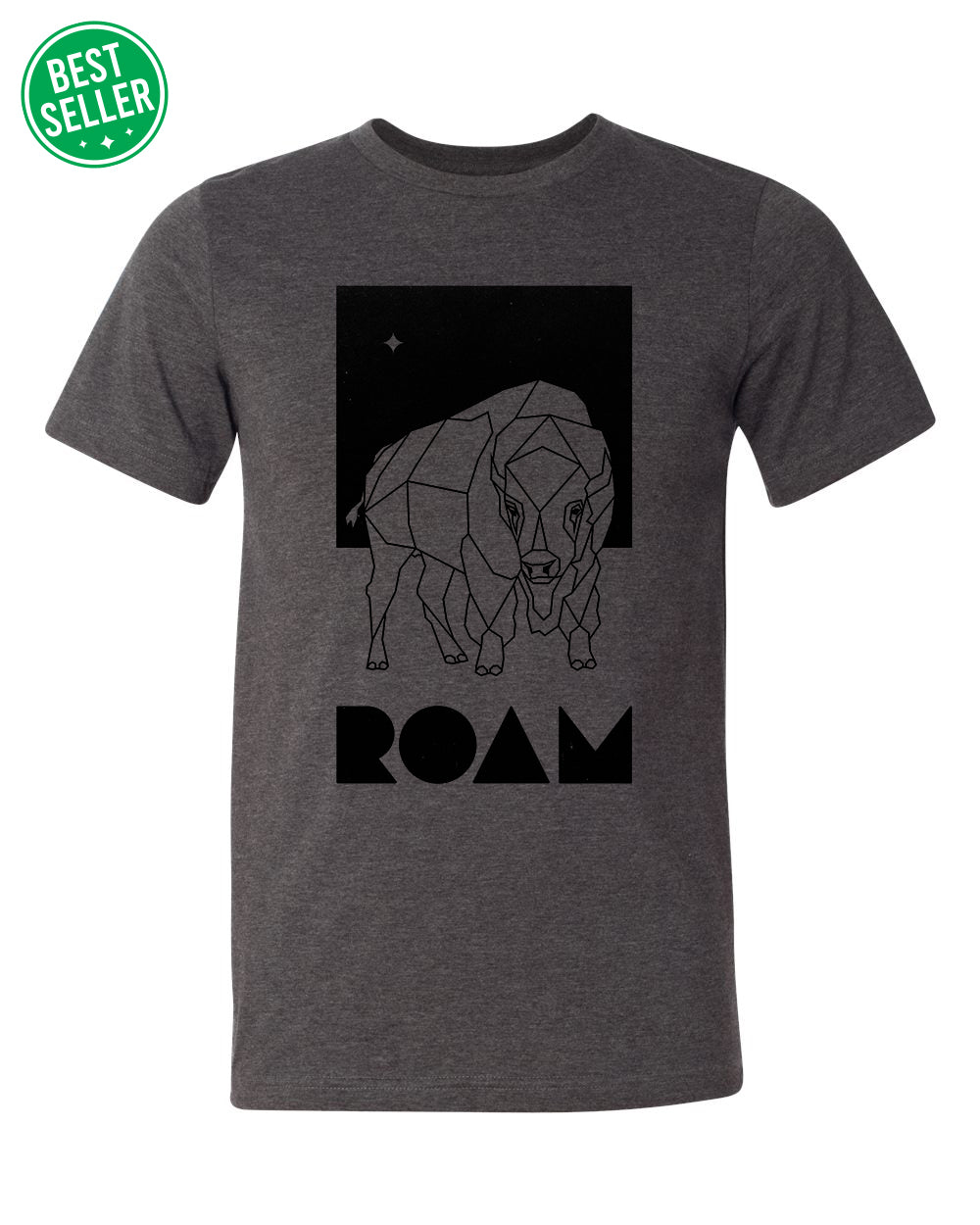 Roam North Star - Heather Dark Grey - Front - BS