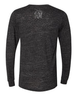 Roam Topo Map Long Sleeve - Charcoal Black - Back