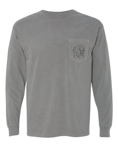 Bison Pocket Long Sleeve - Grey - Front