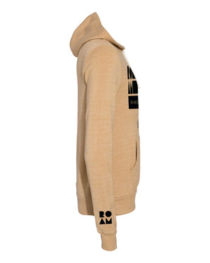 Roam Flag Eco-Fleece Hoodie - Camel - Side