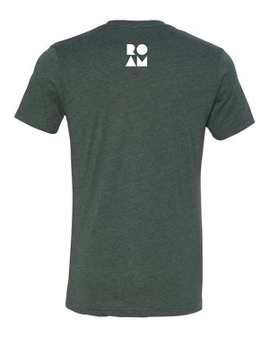 Roam Flag Tee - Heather Forest - Back