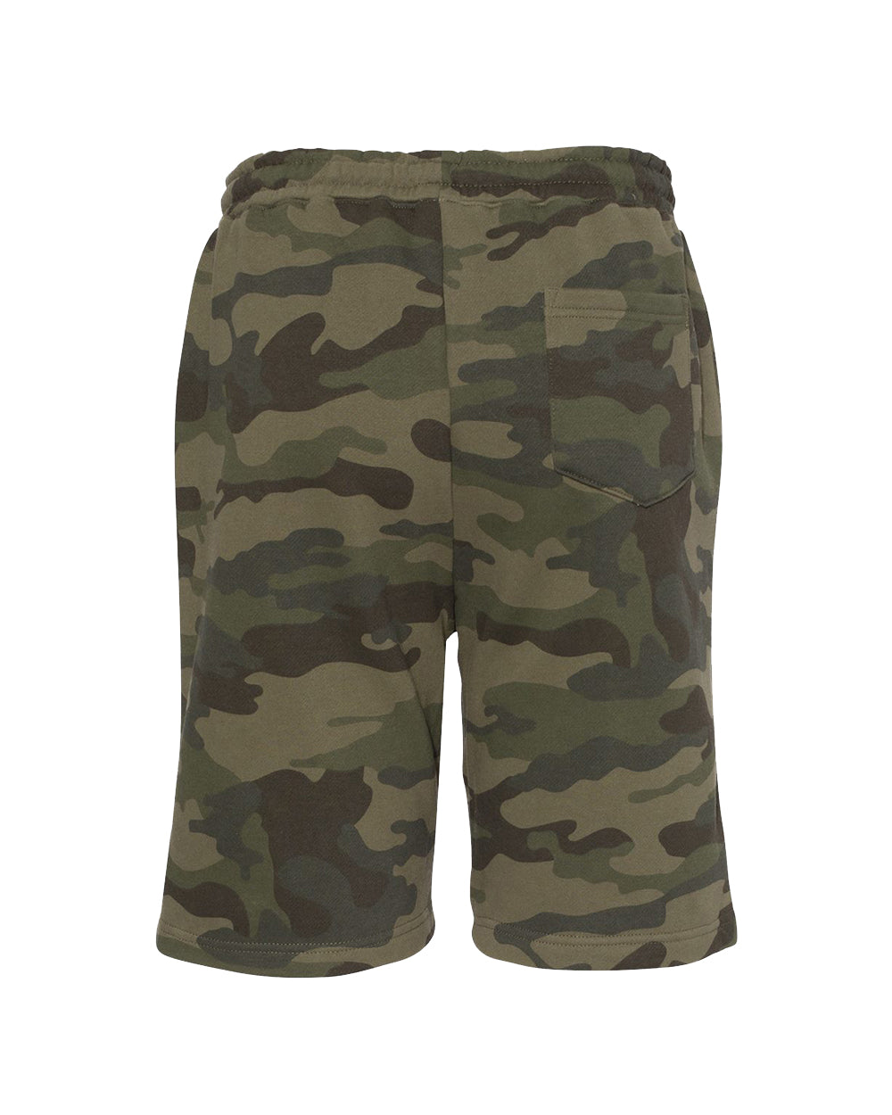 Roam Midweight Fleece Shorts - Forest Camo - Back