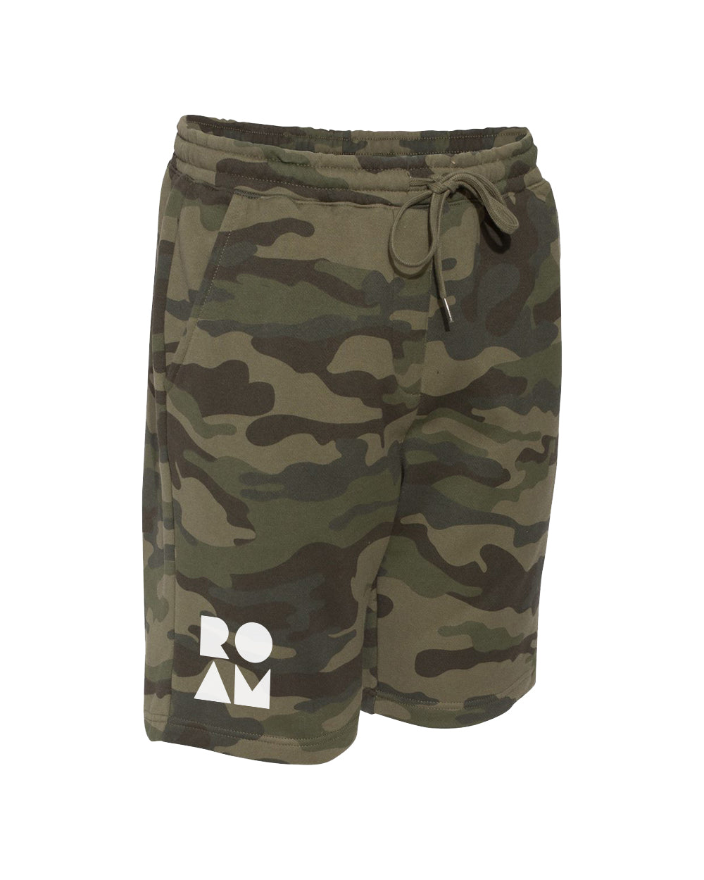 Roam Midweight Fleece Shorts - <br> Forest Camo