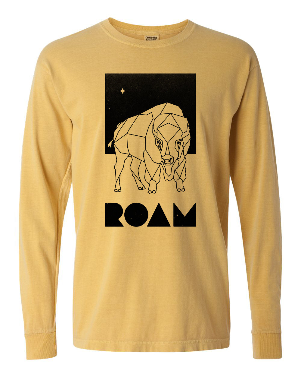 North Star Long Sleeve - Mustard - Front