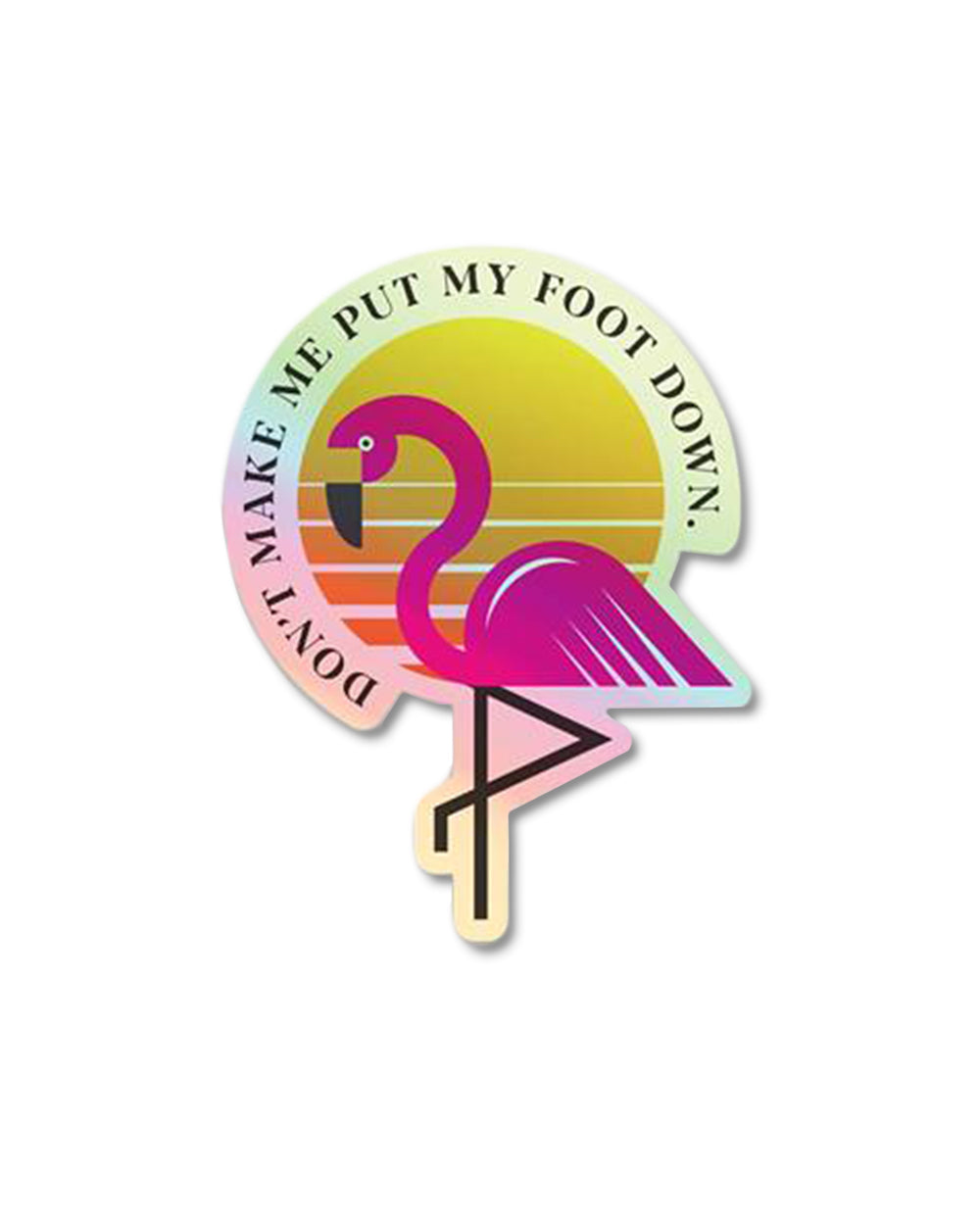 "3"" Flamingo Holographic Sticker"
