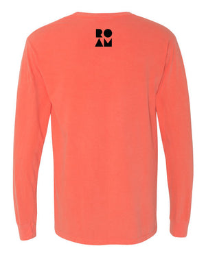 Take Me Long Sleeve Tee - Bright Salmon - Back