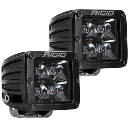 Rigid Industries Dually Pro LED Light - Black Spot Midnight Edition - Pair