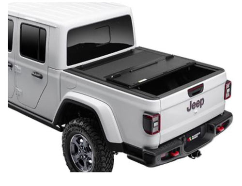 Rugged Ridge Armis Hard Folding Tonneau Cover with LINE-X