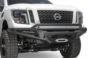 2016 - Up Nissan Titan XD HoneyBadger Winch Front Bumper w/ Sensors