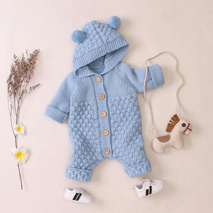 Hooded Knitted Romper