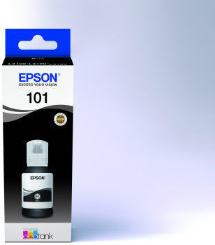 EPSON INK 101 ECOTANK BLACK INK BOTTLE T03V14A, EPSON INK 101 ECOTANK CYAN INK BOTTLE T03V24A, EPSON INK 101 ECOTANK MAGENTA INK BOTTLE T03V34A, EPSON INK 101 ECOTANK YELLOW INK BOTTLE T03V44A
