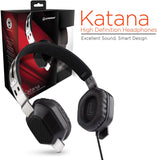 HYPERGEAR KATANA HEADPHONES DYNAMIC BASS BLACK 13990