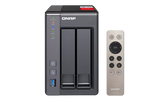 QNAP TS-251+High-performance Intel quad-core NAS supporting HDMI, transcoding, and virtualization for homes and businesses
