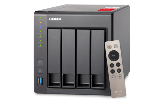 QNAP TS-451+ High-performance Intel quad-core NAS supporting HDMI, transcoding, and virtualization
